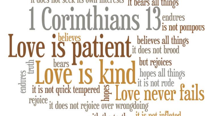 1 Korinthe 13 4 - 8
